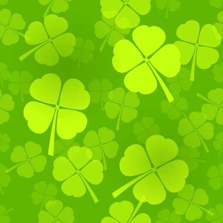 Four-Leaf Clover Pattern Vector