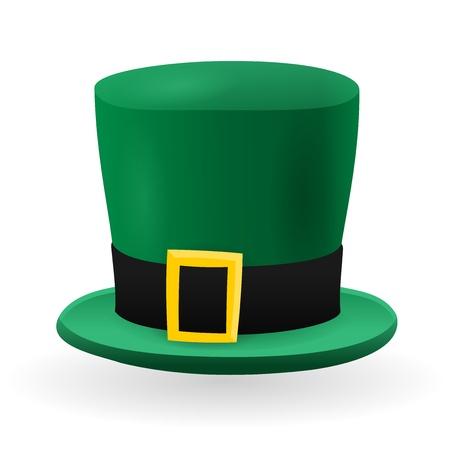st  patrick: Green St Patrick Hat Illustration