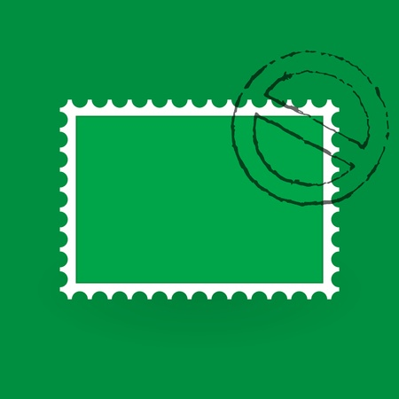 Saint Patrick Postage Stamp Stock Vector - 12484280