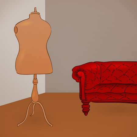 clothed: Clothing Mannequin Illustration