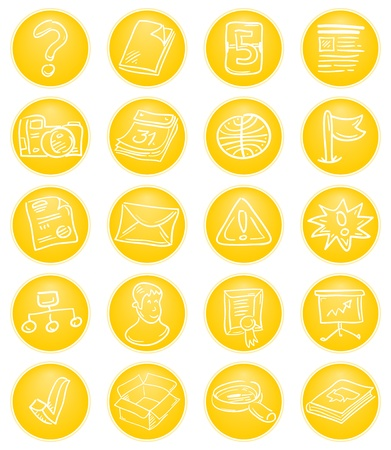 Yellow CMS icons Stock Vector - 12711708