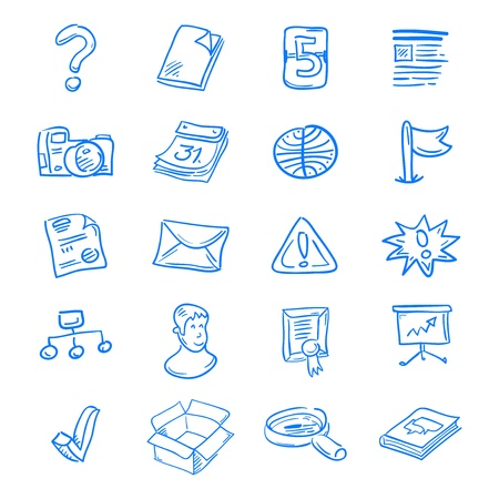 Blue web icons Stock Vector - 12711459