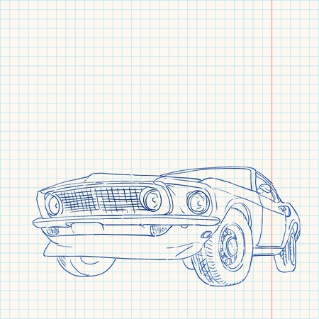 ford: Muscle Car Illustratie