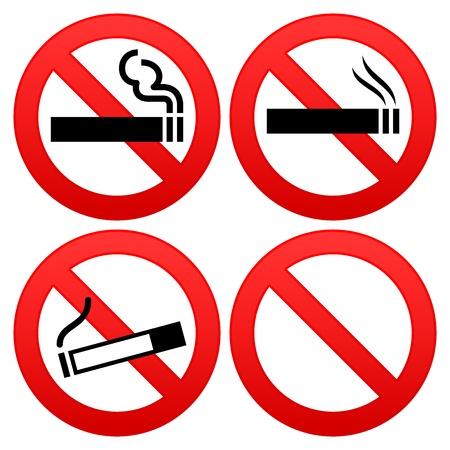 abstain: No Smoking Sign Illustration