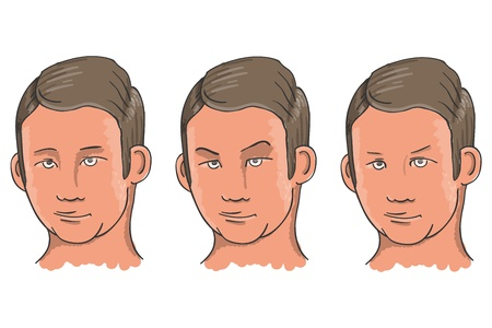 Three Facial Expressions Vector