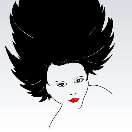 Female Face Silhouette Stock Vector - 13584595