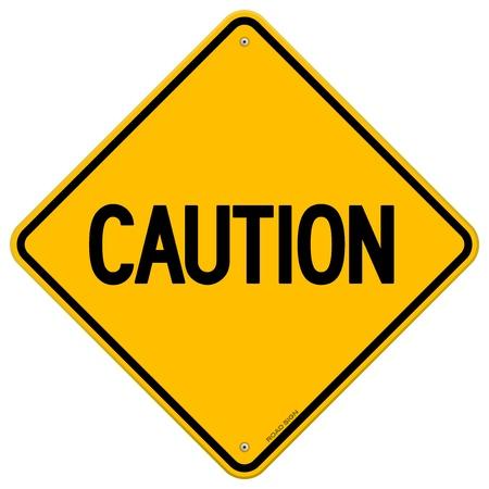 Caution Yellow Sign Illustration