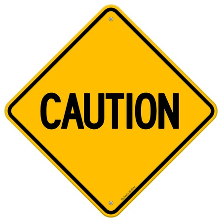Caution Yellow Sign Stock Vector - 13584590