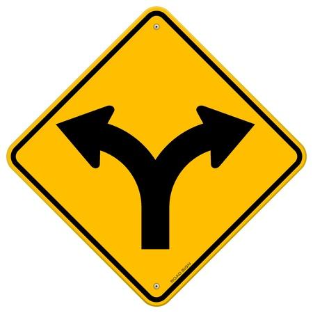 Tenedor en Road Sign