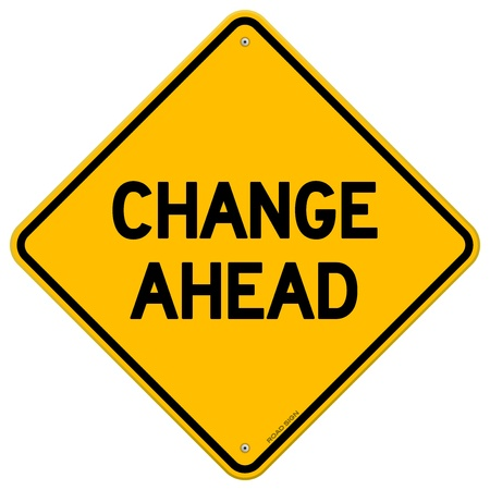 change concept: Change Ahead Yellow Sign