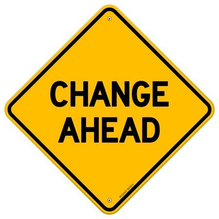 Changer de signe Ahead jaune