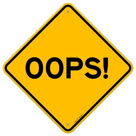 Oeps Road Sign Vector Illustratie