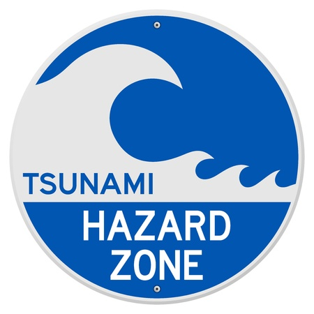 Tsunami Hazard Zone Stock Vector - 13584584