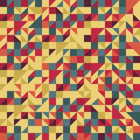ビンテージの赤と茶色のパターン
