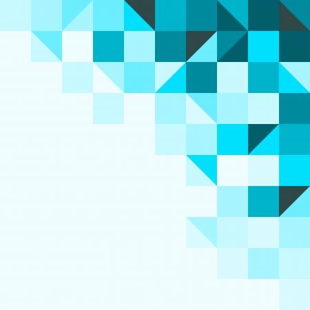 Blauwe achtergrond met driehoeken en vierkanten Stock Illustratie