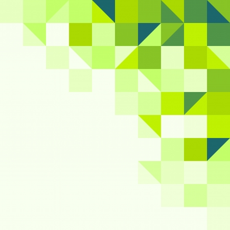 cubes: Green geometric background