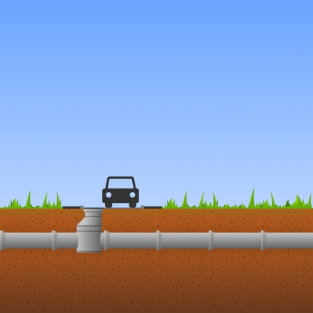 drain: Concrete Pipes Illustration