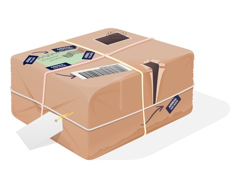 shipped: Mail Package Illustration Illustration