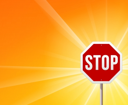 Stop Sign and Sunshine Vector