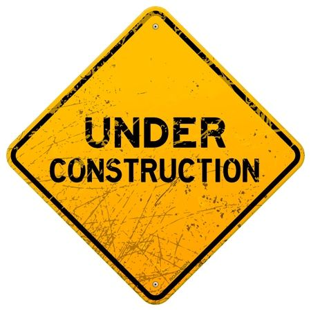 Dirty Under Construction Sign Stock Vector - 14383930