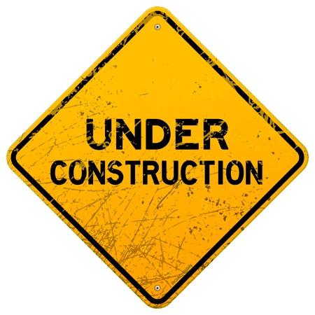 panneaux danger: Sale sous le signe de la construction