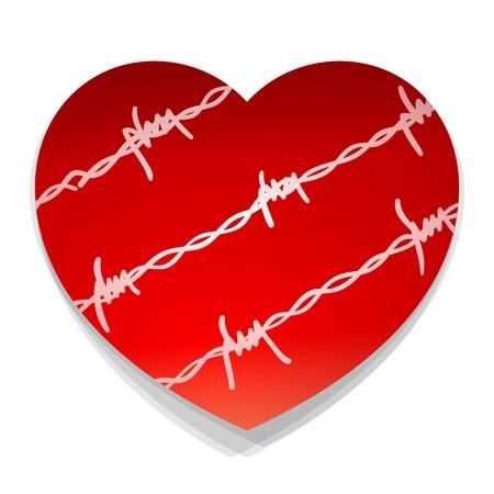 heartache: Barbwire Love Heart