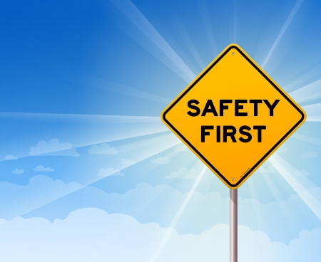 Safety First Danger Sign Vector
