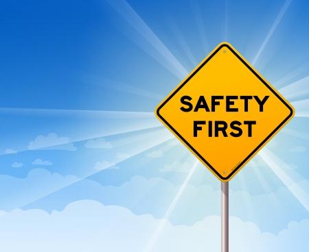Safety First Teken van het Gevaar Stock Illustratie