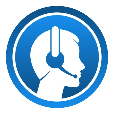 call center agent: Auriculares Contacto Icono