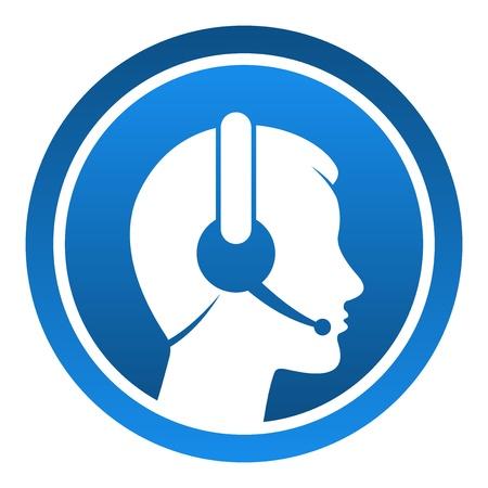 kunden service: Headset Kontakt Icon Illustration