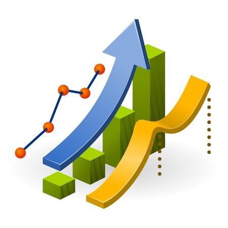 desarrollo econ�mico: Tabla de rendimiento del negocio Vectores