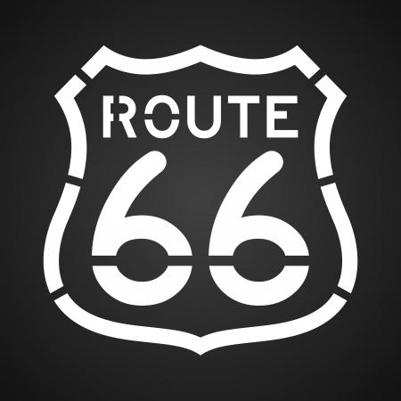 66: Asphalt Route 66 Paint Illustration