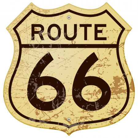 Rusty Route 66 Stock Vector - 14721706