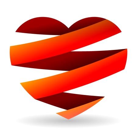 broken relationship: Sliced Red Heart