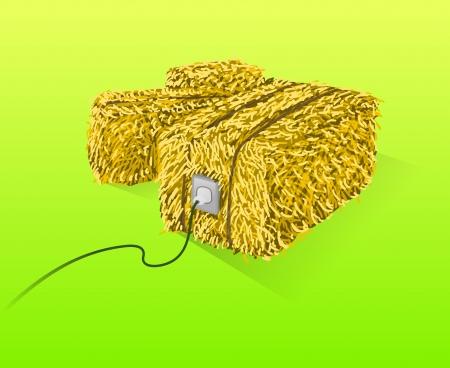 Straw Bales Illustratie Vector Illustratie
