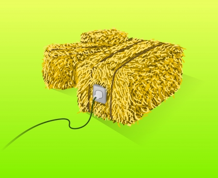 Straw Bales Illustration Vector