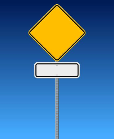 Blank Road Sign on Blue Sky Stock Vector - 15149247