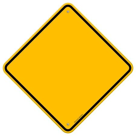 Izolowane Puste żółty znak Ilustracje wektorowe