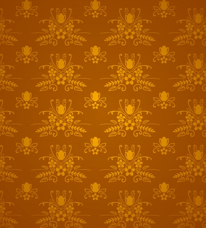 Gold Damask Pattern Vector