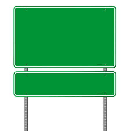 Green Blank Roadsign Illustration