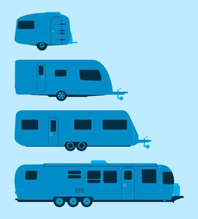Caravan Silhouette Vector