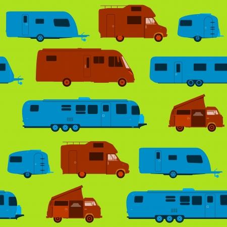 rv: Seamless Caravan Pattern