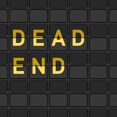 Dead End Flip Board Stock Vector - 15782236