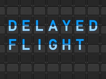 Delayed Flight Flip Board