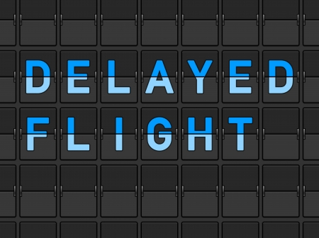 flight board: Delayed Flight Flip Board