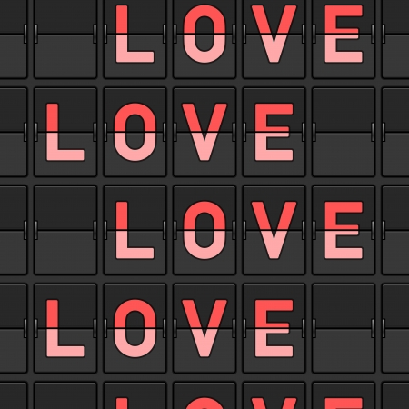 Love Flip Board Stock Vector - 15782281
