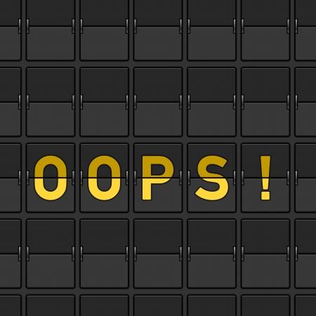oops: Oops Flip Board