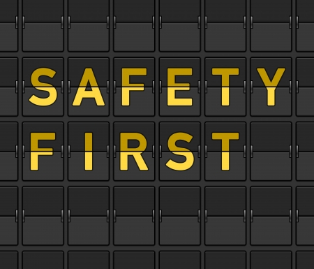 indicator panel: Safety First Flip Board