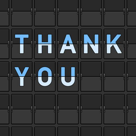 Thank You Flip Board Stock Vector - 15782238