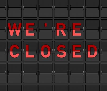 We Are Closed Flip Board Stock Vector - 15782274
